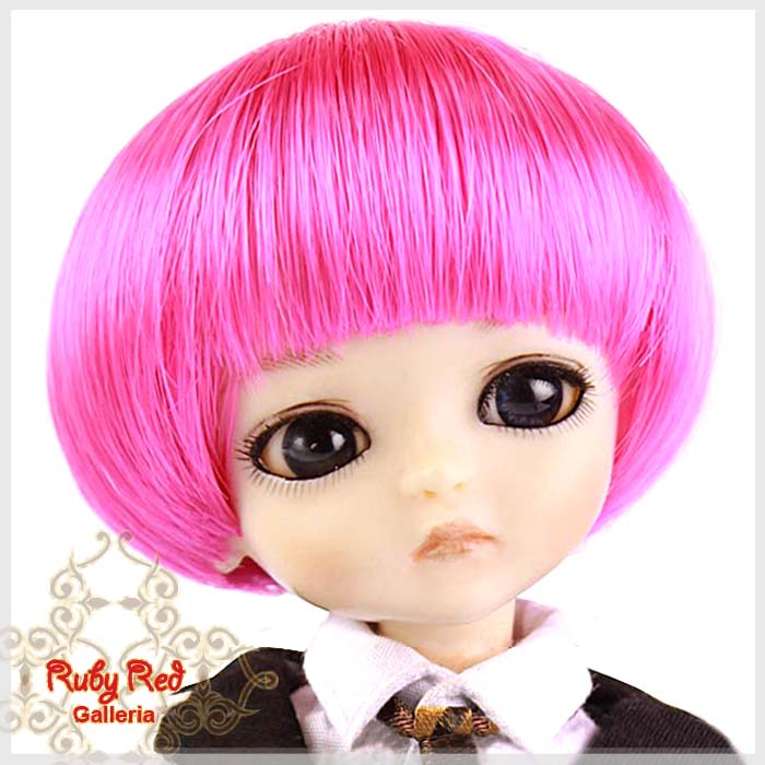 LD0007P Hot Pink Short Bobbed Wig