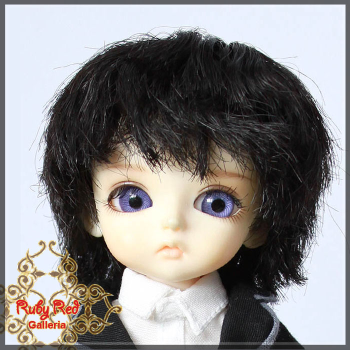 LD0008V Short Curled Dark Brown Wigs