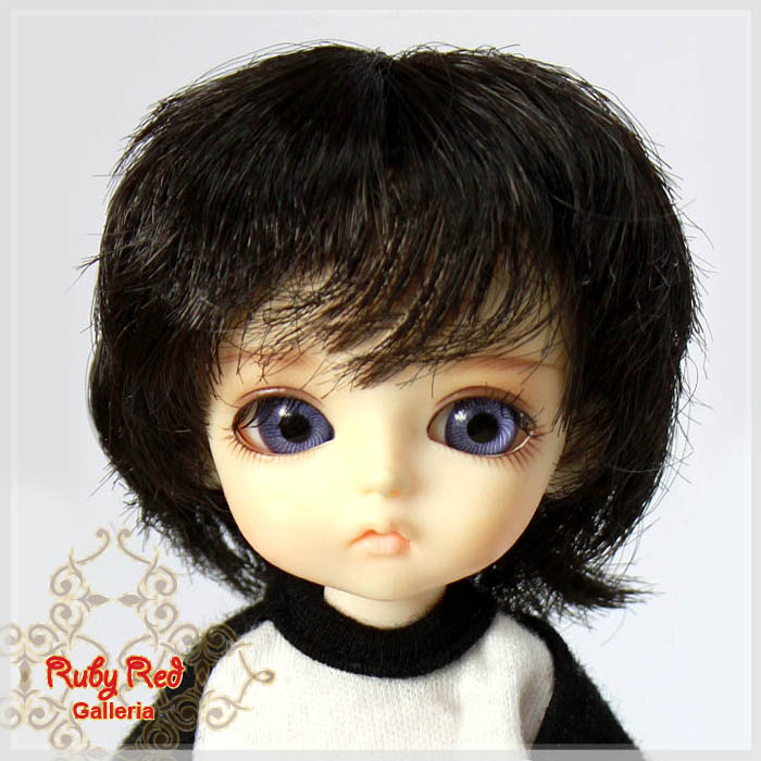 LD0009V Short Wavy Dark Brown Wigs