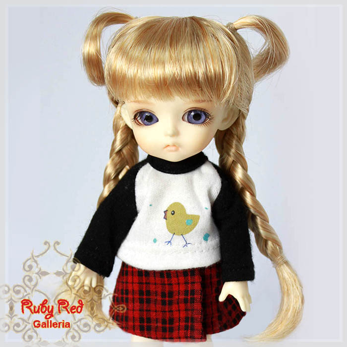LD0012Y Long Ponytails Frosted Blonde Wigs