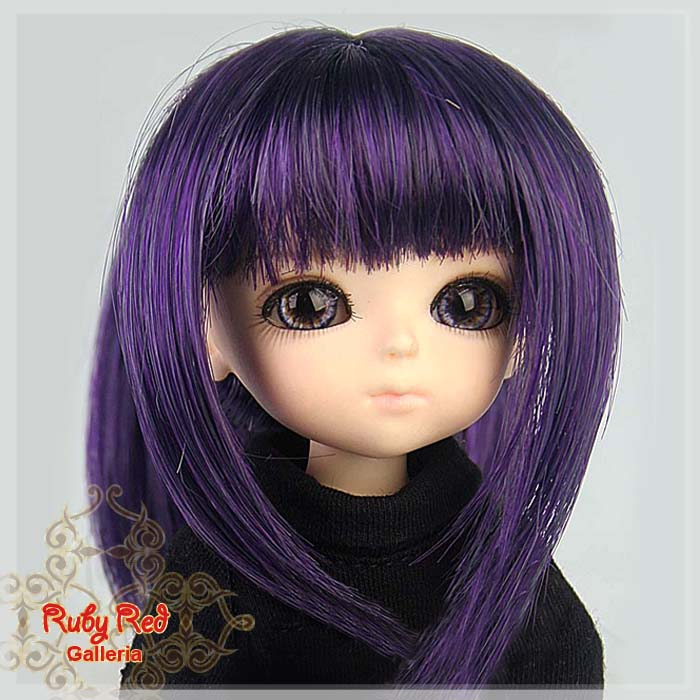 LD0014KA Dark Purple Doll Wig