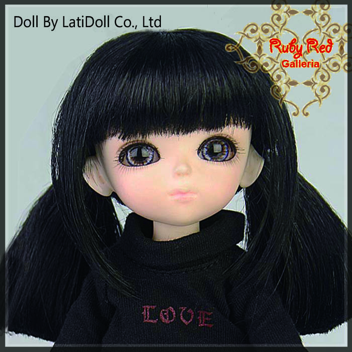 LD0015H Black Doll Wig