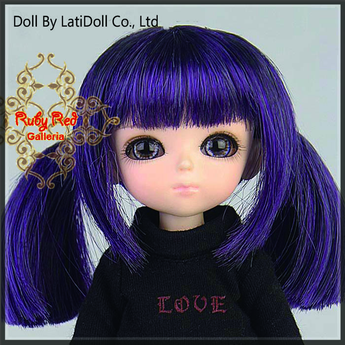 LD0015KA Dark Purple Doll Wig