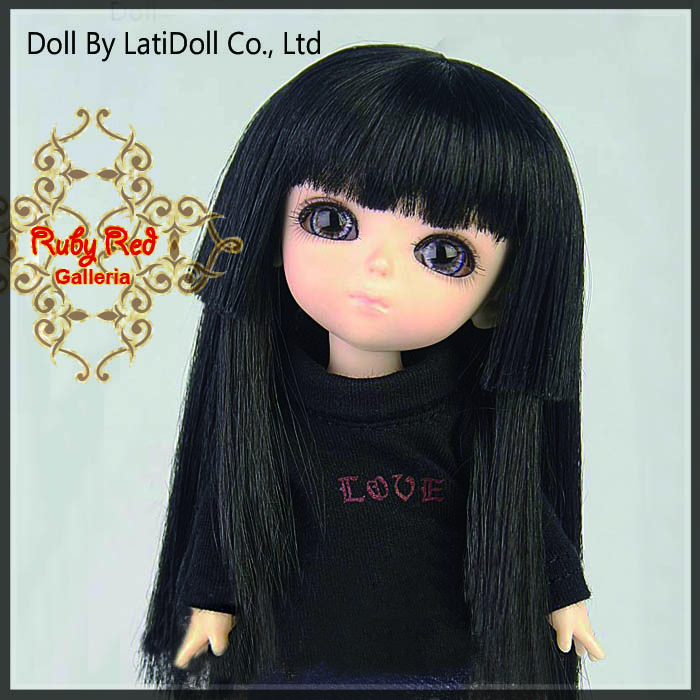 LD0016H Black Doll Wig