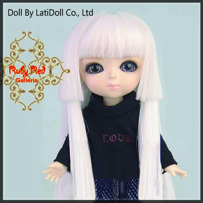 LD0016S White Doll Wig