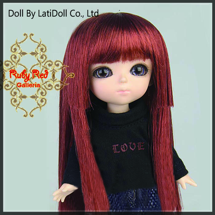 LD0016SF Red Wine Doll Wig