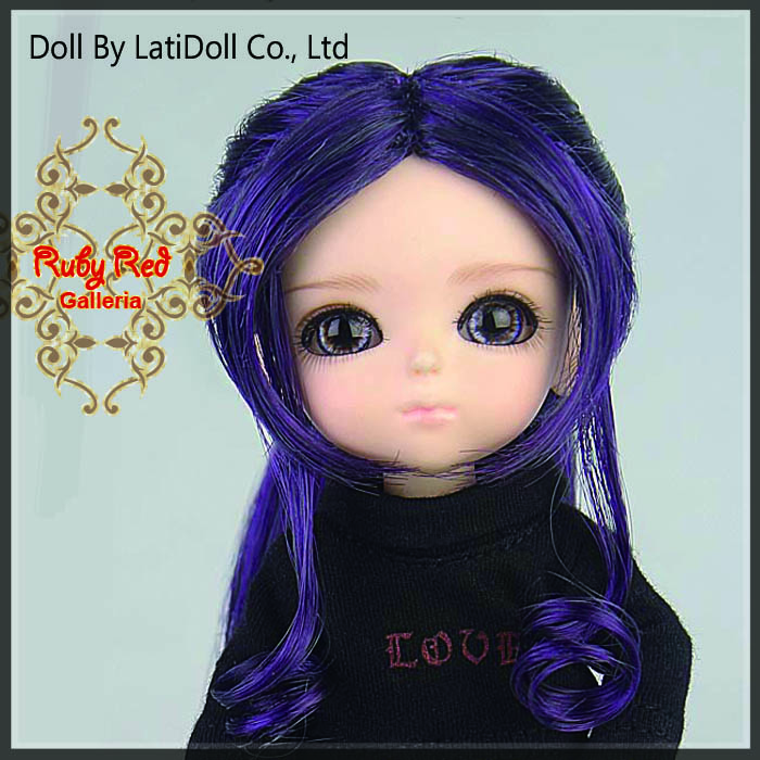 LD0017KA Dark Purple Doll Wig