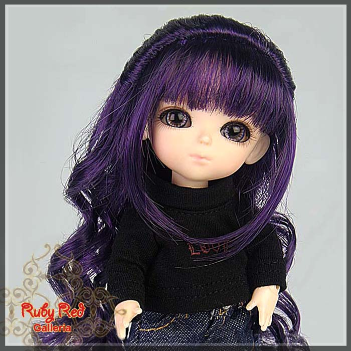 LD0018KA Dark Purple Doll Wig