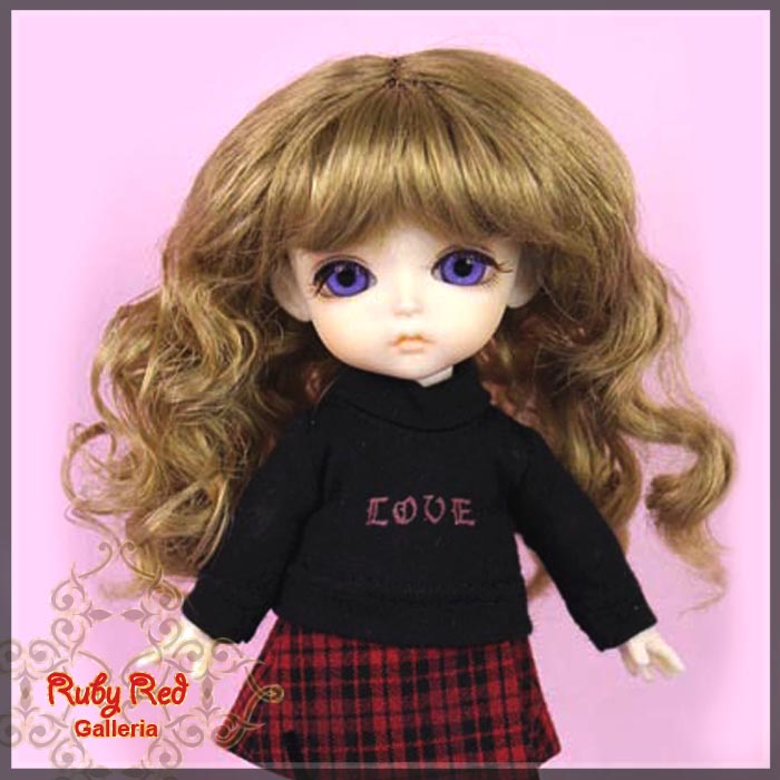 LD0025A Ash Blonde Doll Wig
