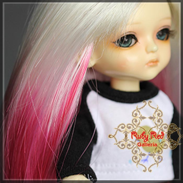 LD0026A Shocking Pink Gradient Doll Wig