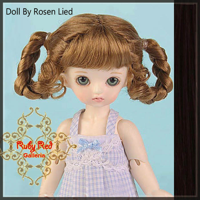 MD0008I Dark Brown Ribbon Pony Wig