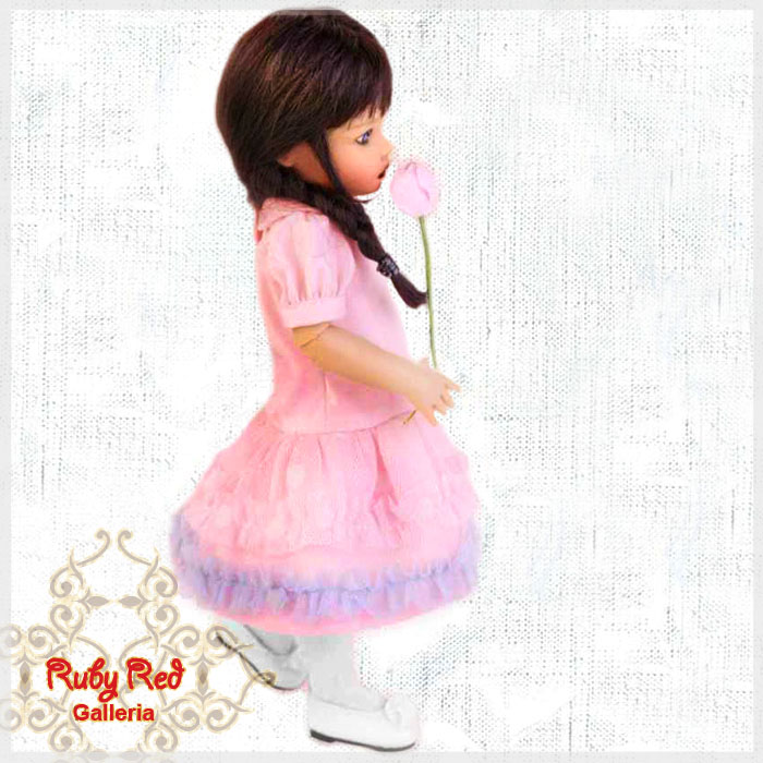 RA0003A Puff Sleeve Flower Angel Dress