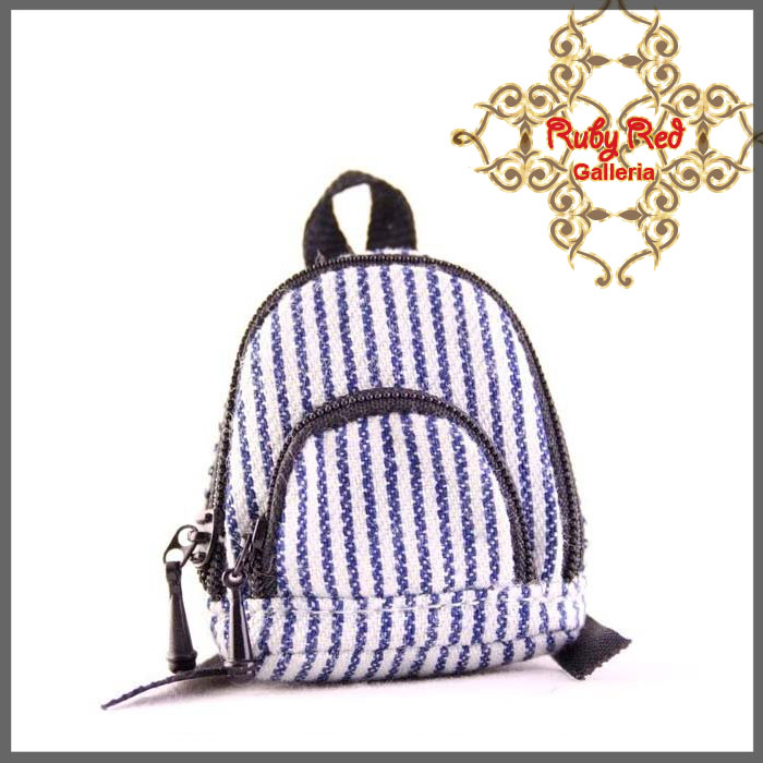 RB0001E White & Blue Backpack