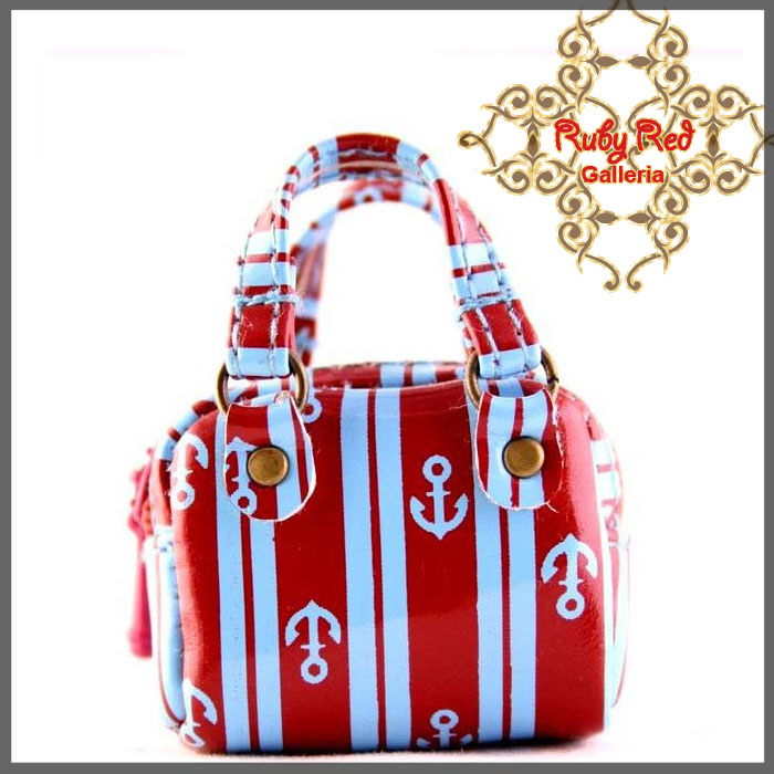 RB0003G Red & Blue Fashionable Handbag