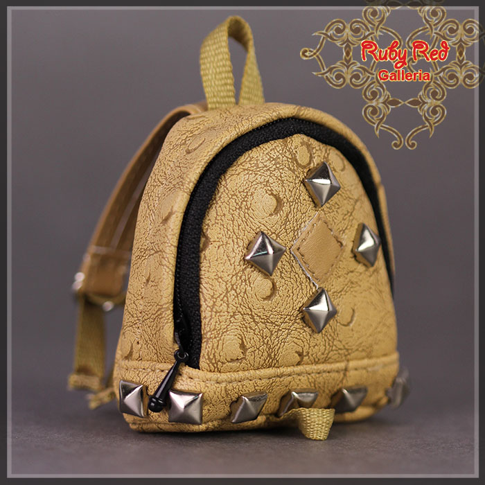 RB0021A Brown Backpack with Studs