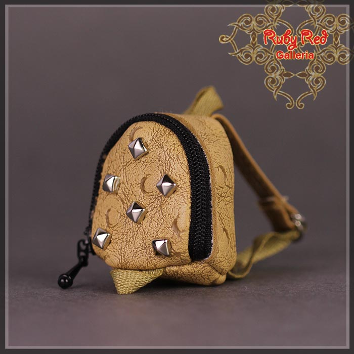 RB0022A Mini Brown Backpack with Studs