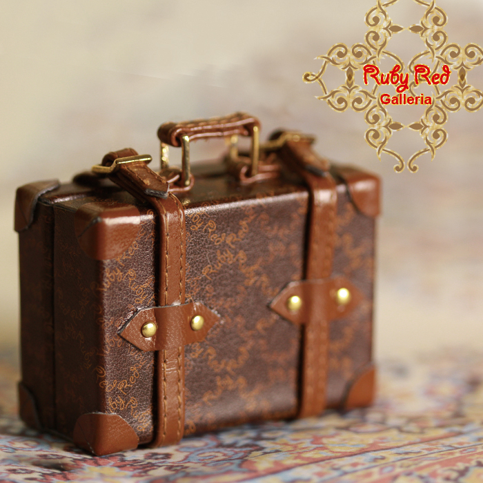 RB0023A Small Rectangular Brown Suitcase