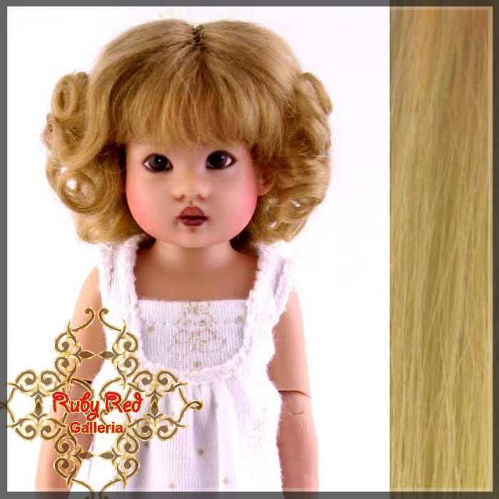 RD0003D Ash Blonde Mohair Curly Wigs