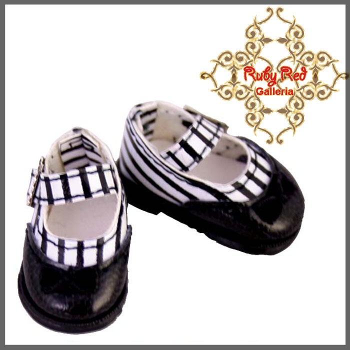 RH0027A Black Stripe Knot Mary Jane