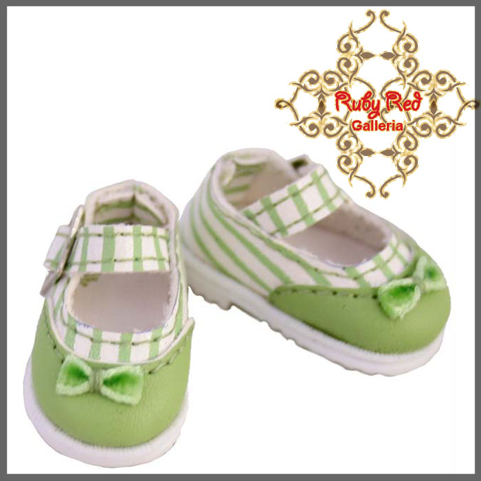 RH0027B Green Stripe Knot Mary Jane