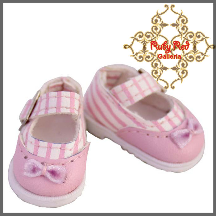 RH0027C Pink Stripe Knot Mary Jane