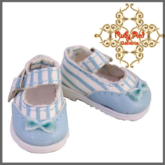 RH0027D Blue Stripe Knot Mary Jane