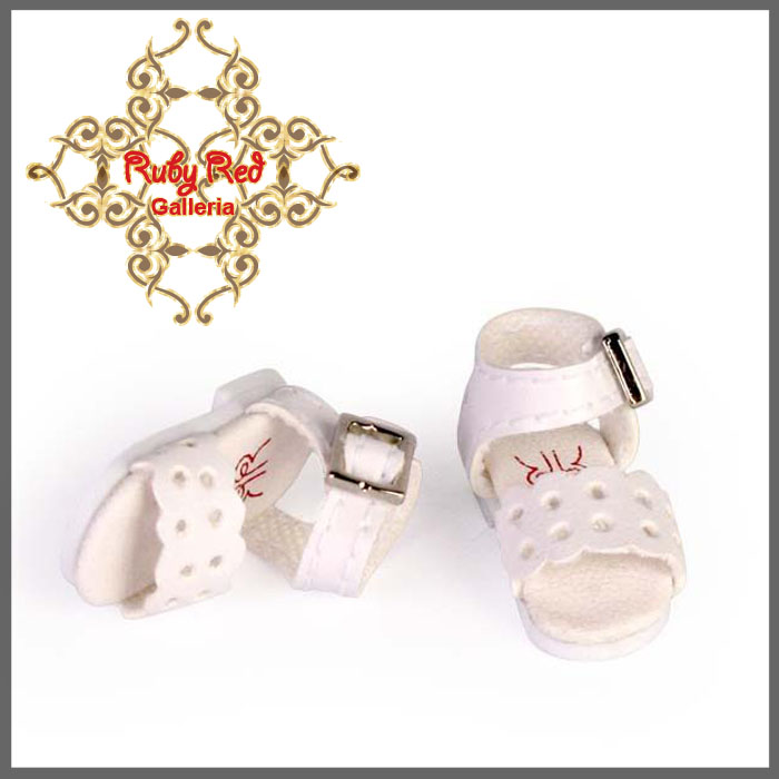 RH0028A England White Facet Sandals