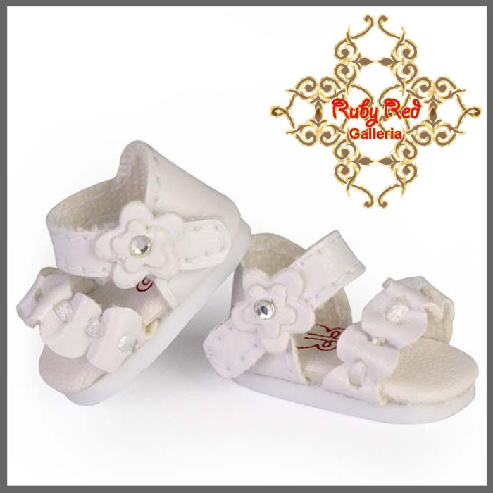 RH0030A White Ruffle Sandals