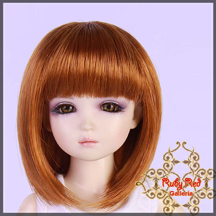 WD0003E8 Carrot Red Doll Wig