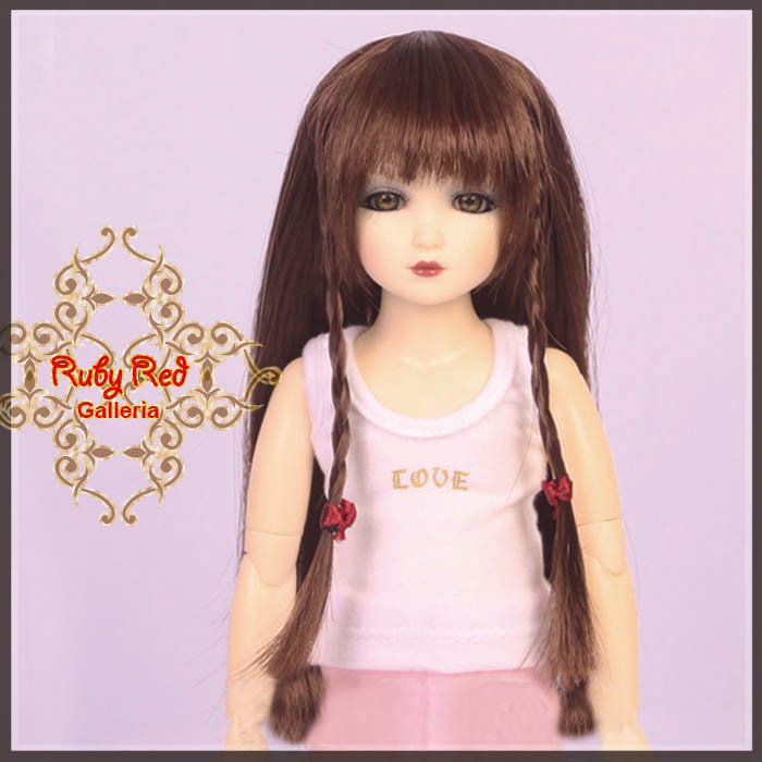 WD0007A Long Straight Dark Brown Wig