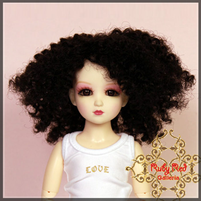 WD0009A Black Curly Wig