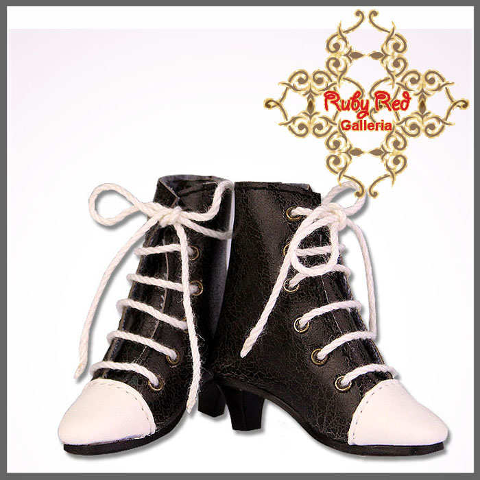 WH0009A Black and White boots