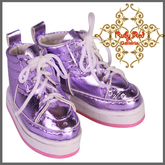 WH0028A Purple Glitter Sports Shoes