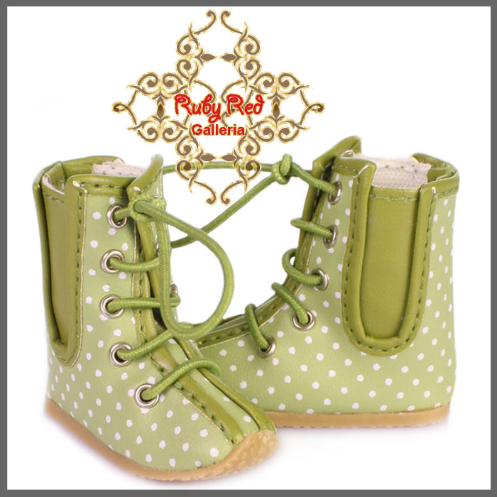 WH0037A White & Green Boots