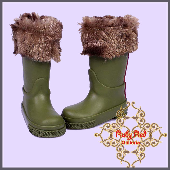 WH0045A Forest Green Boots