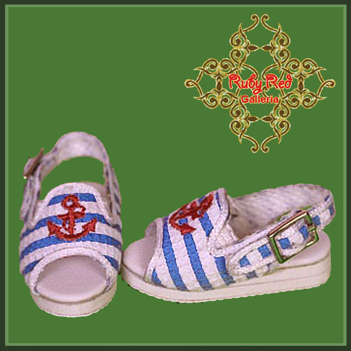 WH0049A Light Blue Canvas Open Toes Shoes