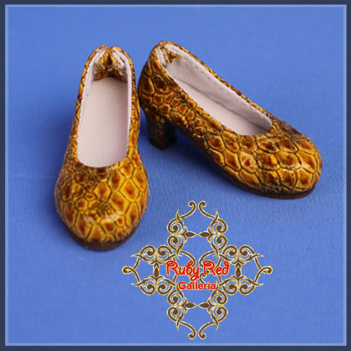 WH0061A Yellowish Brown High Heel Shoes